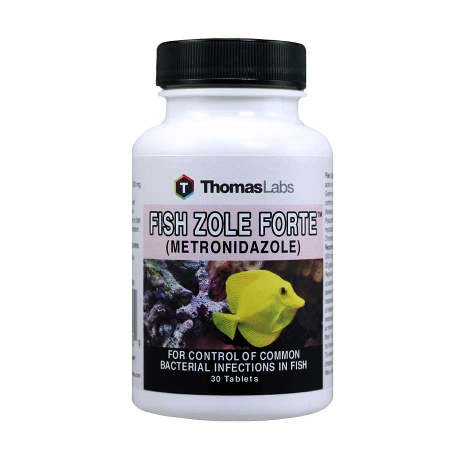 Fish zole forte metronidazole 500 mg 30 count tablets by for Thomas labs fish mox forte